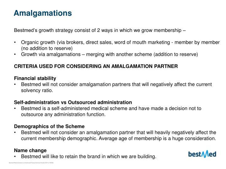 Amalgamations