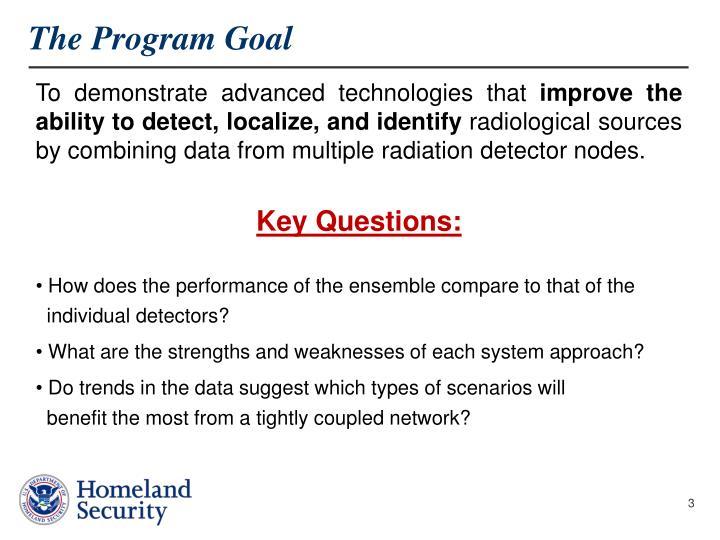 The program goal