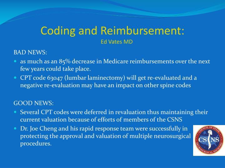 Coding and Reimbursement: