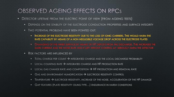 Observed Ageing effects on