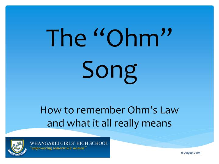 the ohm song n.