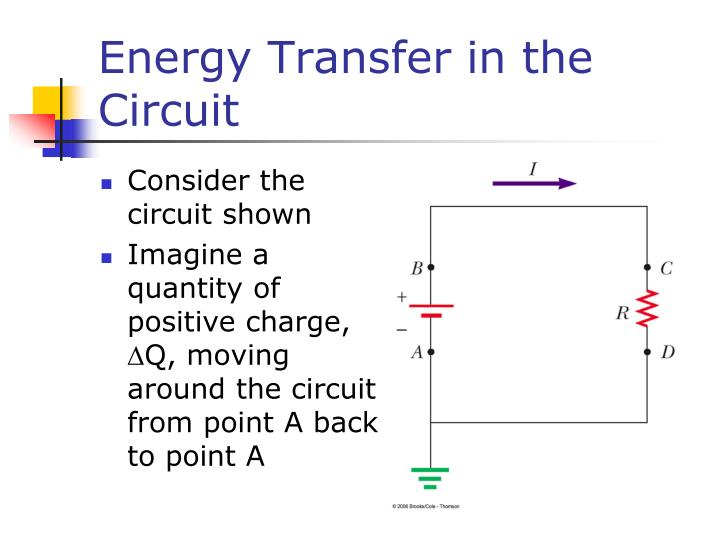 Energy Transfer in the Circuit