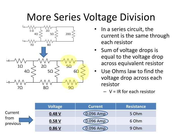 More Series Voltage Division