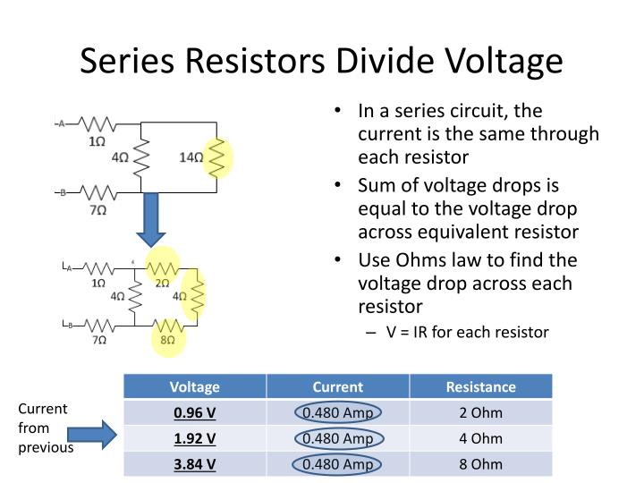 Series Resistors Divide Voltage