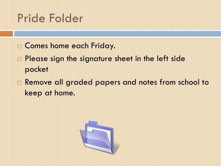 Pride Folder