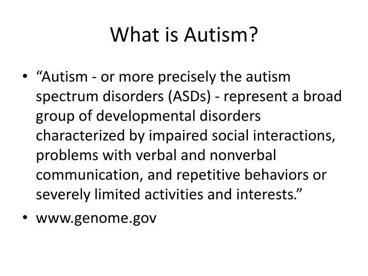 What is autism