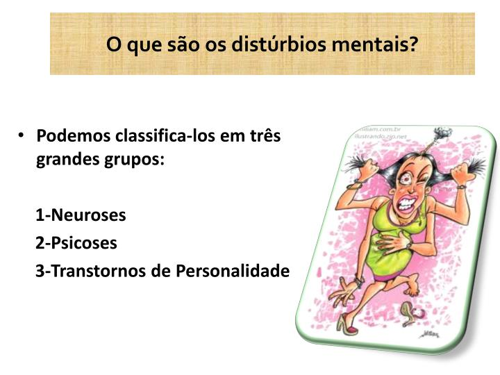 O que são os distúrbios mentais?