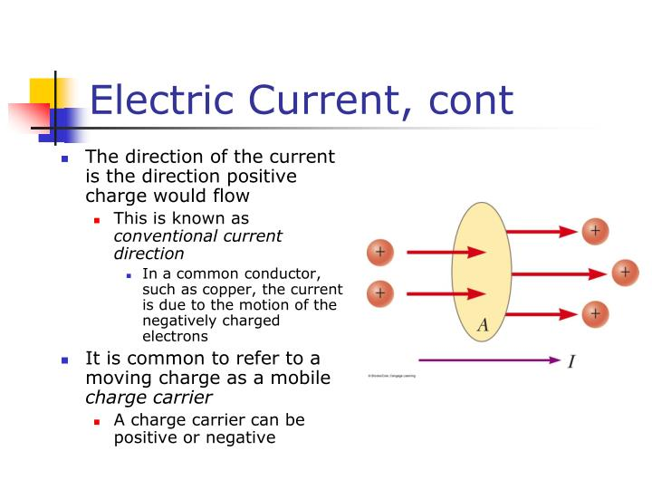 Electric Current, cont