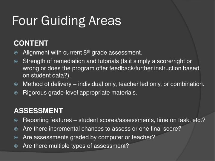 Four guiding areas