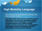 high modality language