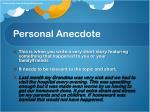 personal anecdote