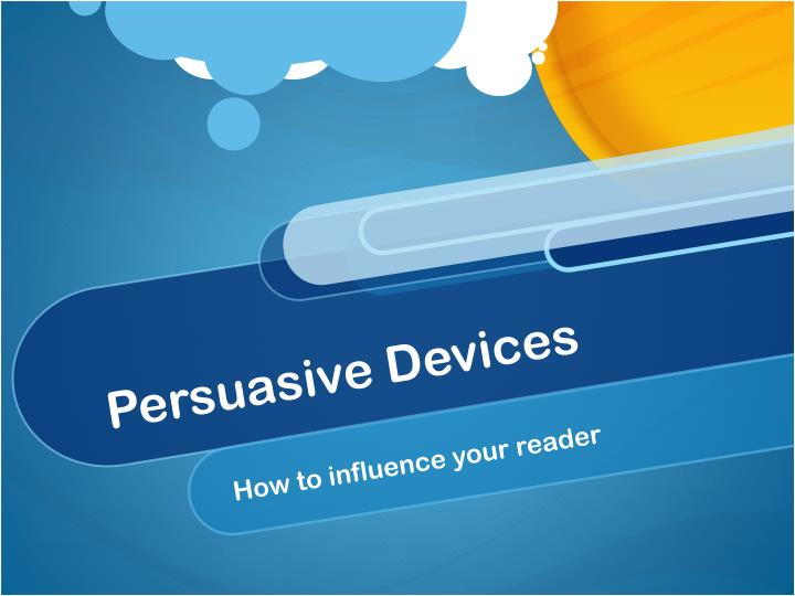 persuasive devices n.