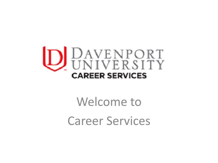 welcome to career services n.