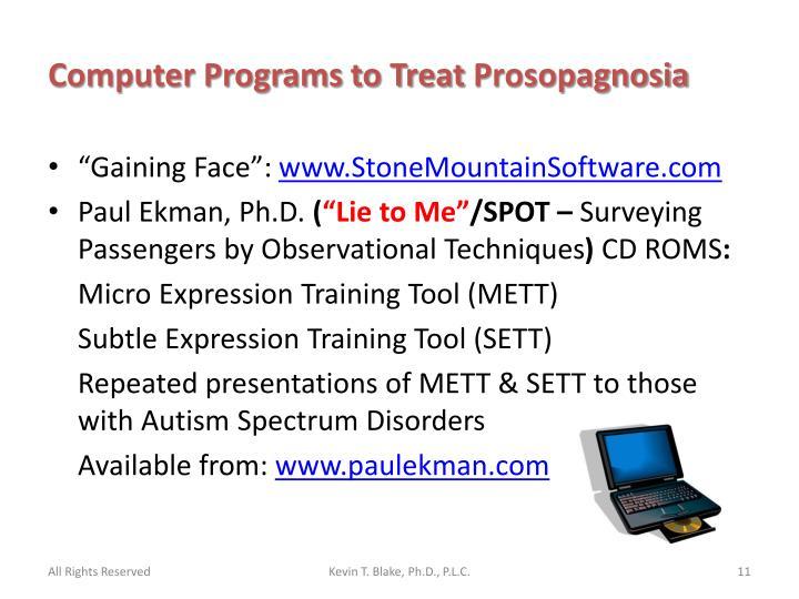 Computer Programs to Treat