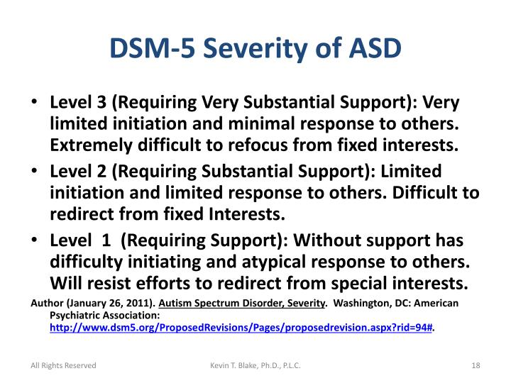 DSM-5 Severity of ASD