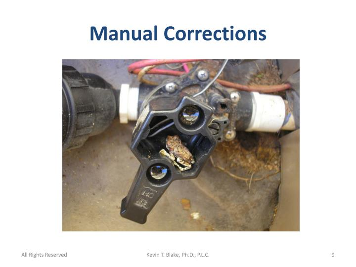 Manual Corrections