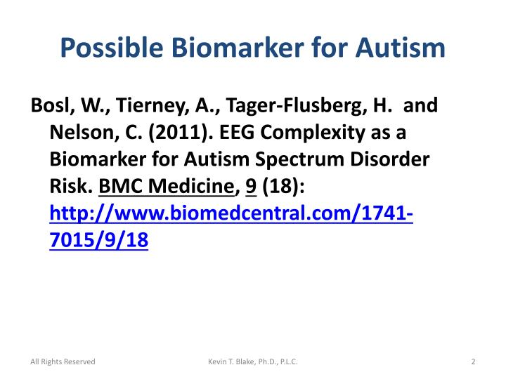 Possible biomarker for autism1