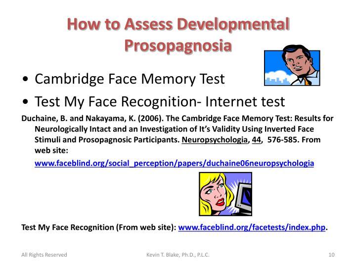 How to Assess Developmental