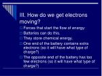 iii how do we get electrons moving