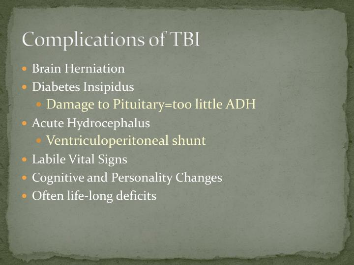 Complications of TBI