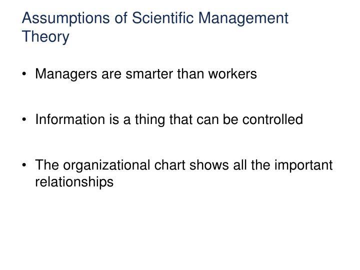 Assumptions of Scientific