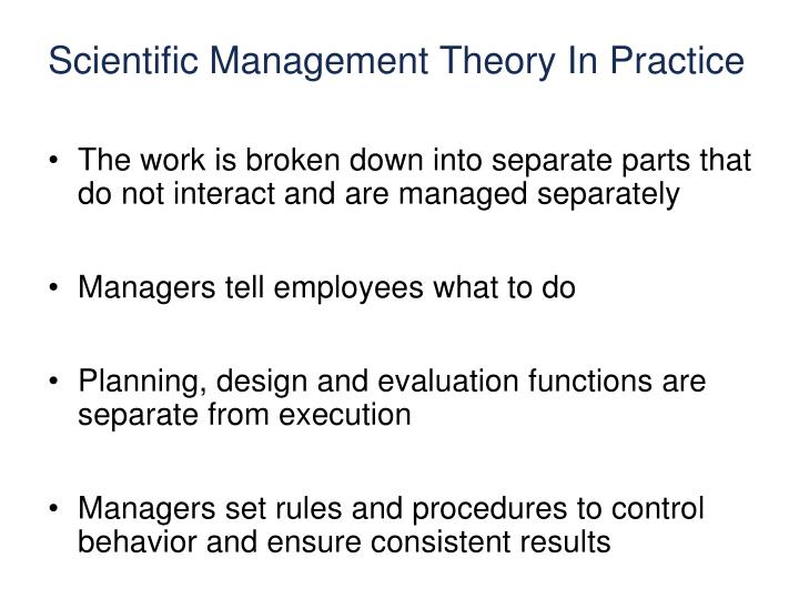 Scientific Management Theory In Practice