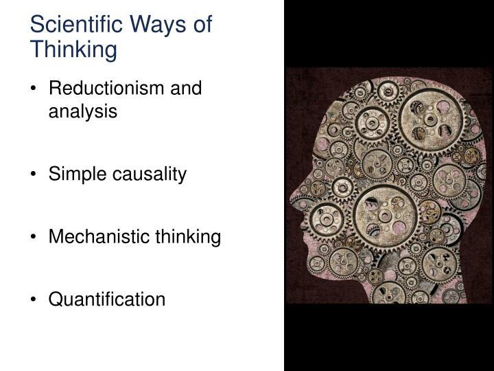 Scientific Ways of Thinking