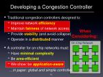 developing a congestion controller