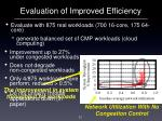 evaluation of improved efficiency