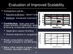 evaluation of improved scalability