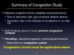 summary of congestion study