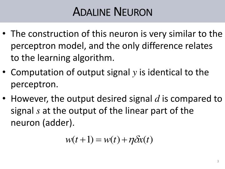 Adaline neuron