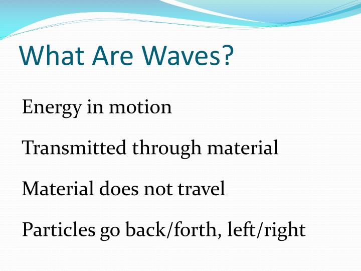 what are waves n.