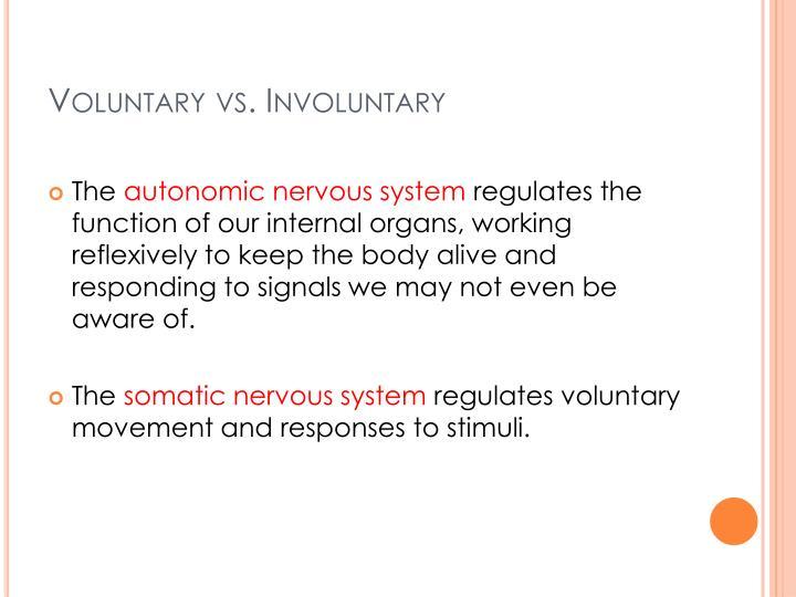Voluntary vs. Involuntary