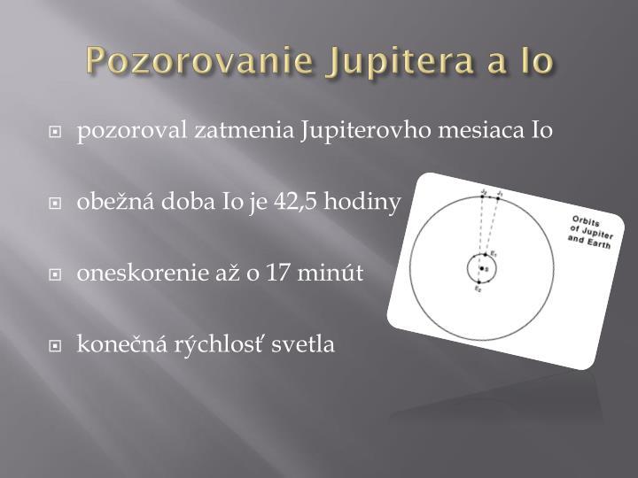 Pozorovanie Jupitera a