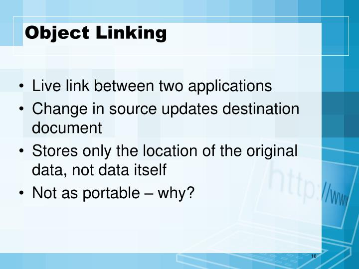 Object Linking