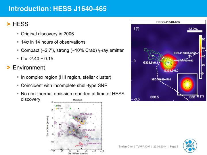 Introduction hess j1640 465