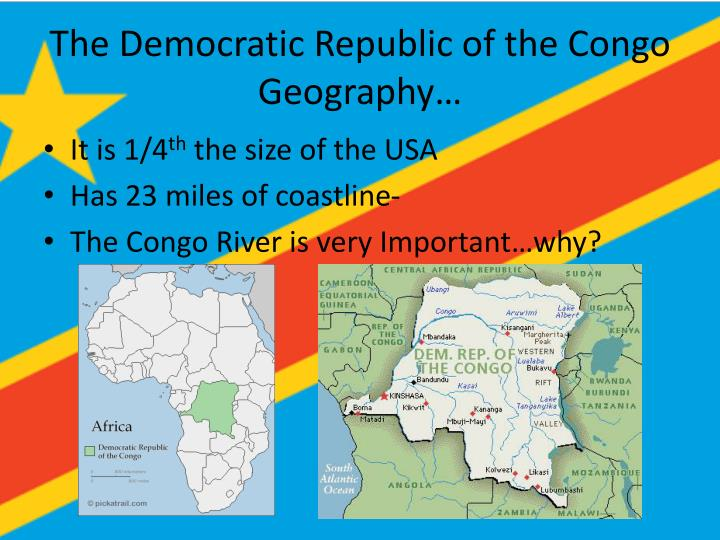 The democratic republic of the congo geography