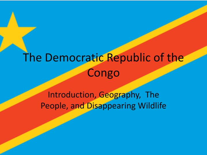 an introduction to the geography of congo Wiley digital archives is a long-term program of new, digital content sets comprised of unique or rare historical primary sources, digitized from leading societies, libraries, and archives around the world that will provide unprecedented access to historical records across the sciences and medicine.