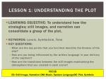 lesson 1 understanding the plot