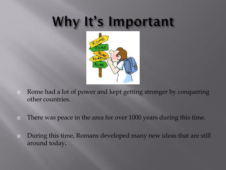 Why it s important