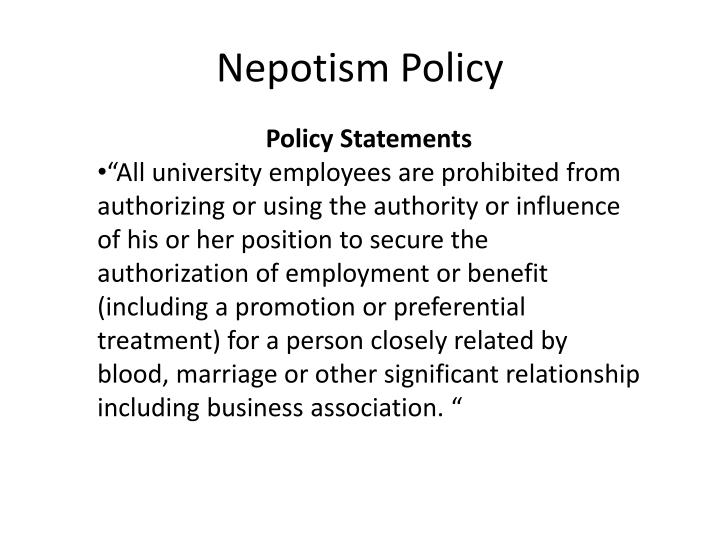 Nepotism policy1