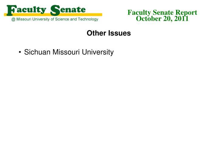 Faculty Senate Report