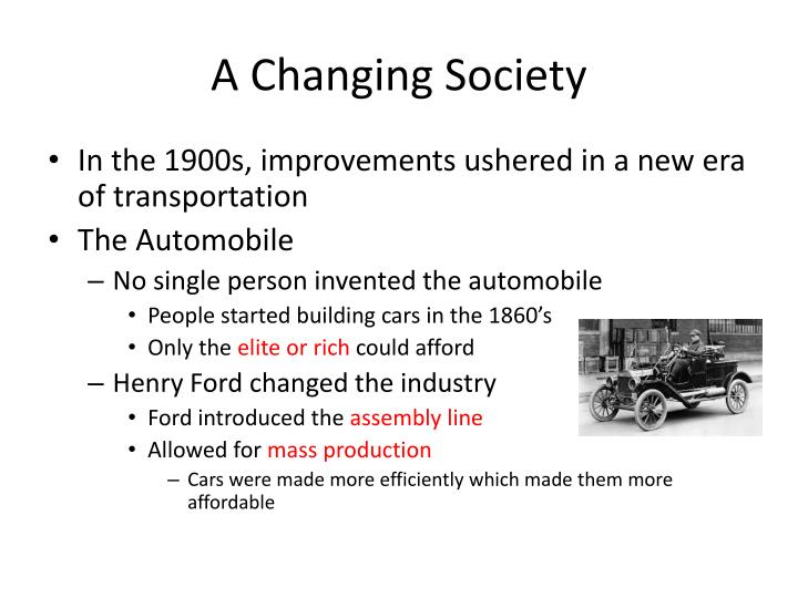 A Changing Society