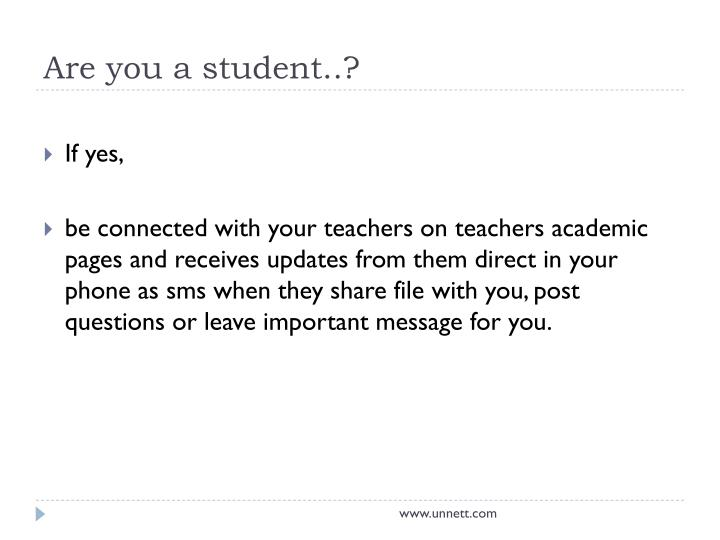 Are you a student..?