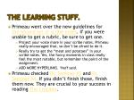 the learning stuff