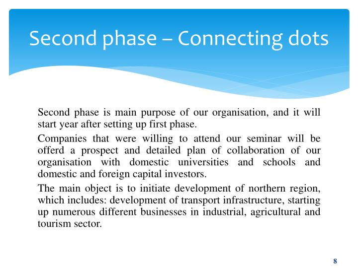 Second phase – Connecting dots