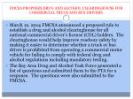 fmcsa proposes drug and alcohol clearinghouse for commercial truck and bus drivers