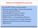 topics addressed continued1
