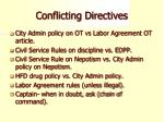 conflicting directives